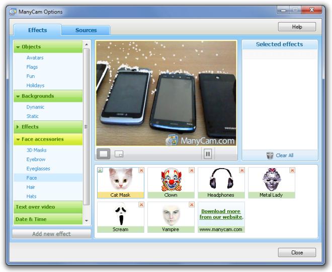ManyCam - программа для записи видео с веб-камеры с эффектами