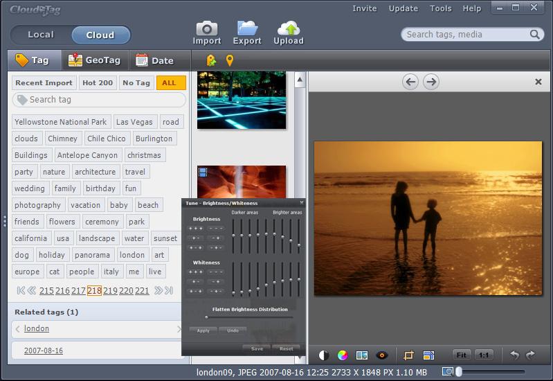 CloudaTag - программа и сервис для облачного хранения и сортировки фотографий и видео
