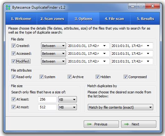 Bytessence DuplicateFinder - программа для поиска дубликатов