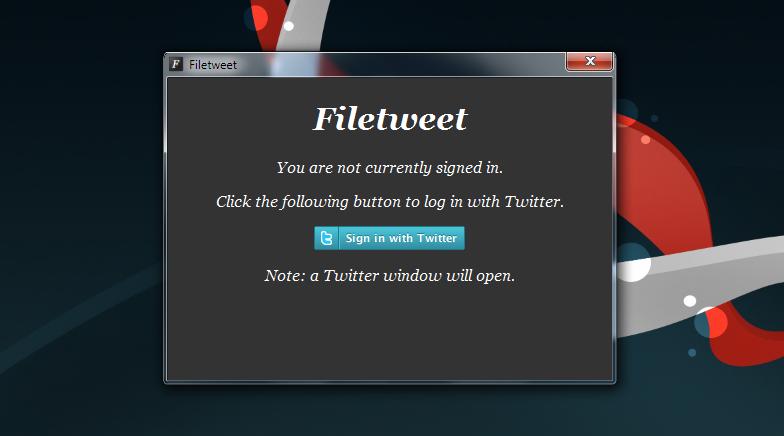 FileTweet - программа для посылки файлов через Twitter