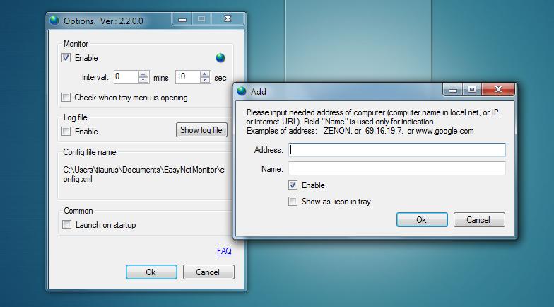 EasyNetMonitor - утилита для пингования IP-адресов и сайтов