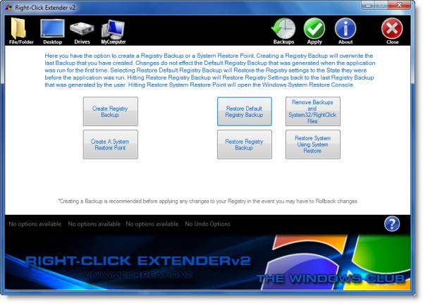 Right-Click Extender добавляет в контекстное меню ярлыки программ и операций