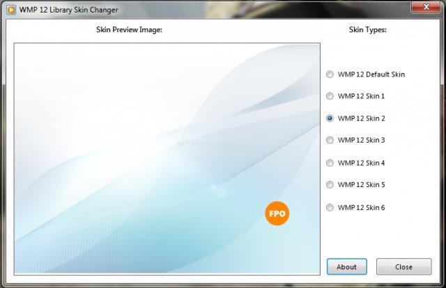 WMP 12 Library Skin Changer - портабельная утилита для смены фонового изображения в Windows Media Player