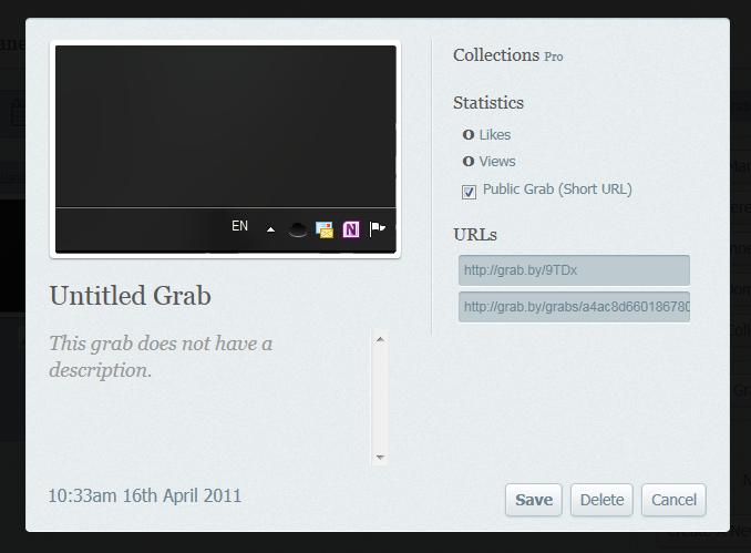TinyGrab - небольшая программа для загрузки скриншотов на облачные хостинги и FTP