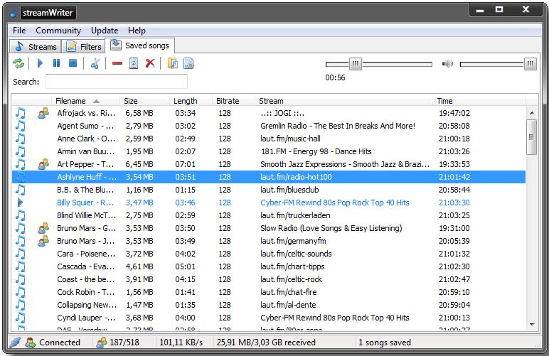 streamWriter - портабельная утилита для прослушивания и записи онлайновых радио-станций