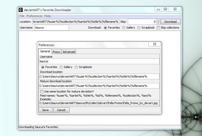deviantArt Favorites Downloader - утилита для скачивания галерей пользователей