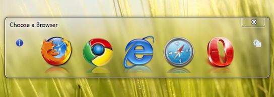 Browser Chooser - утилита для выбора браузера при открытии ссылки