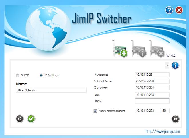 JIMIP Switcher - переключатель между сетевыми профилями