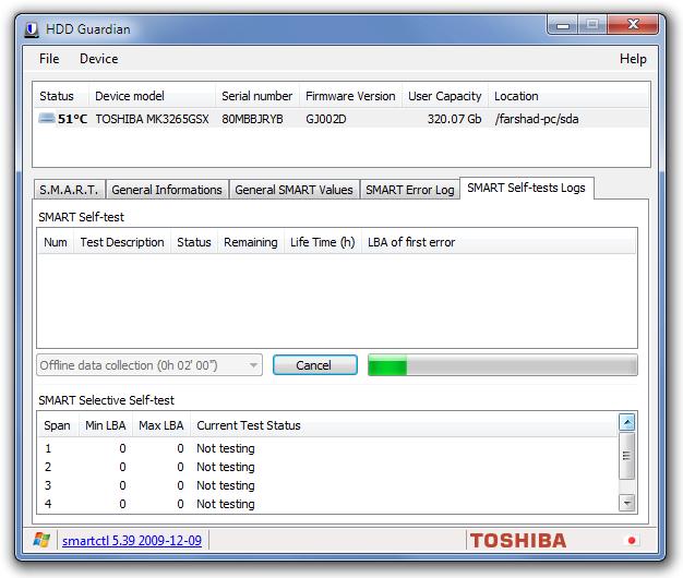 HDD Guardian - программа для тестирования жестких дисков