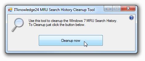 Как очистить историю поисковых запросов в Windows 7 | MRU Search History Cleanup Tool