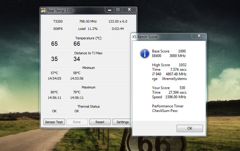 Real Temp - простой монитор системных ресурсов и параметров