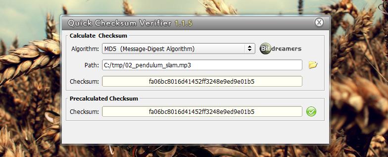 Quick Checksum Verifier - программа для проверки контрольной суммы