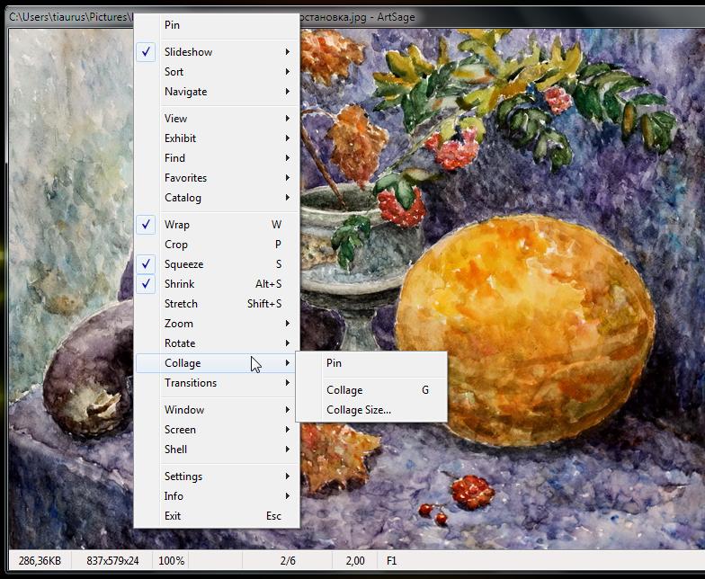 ArtSage - простой портабельный вьювер изображений