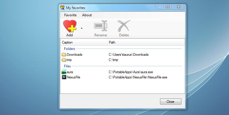 ConFavor добавляет часто используемые программы и папки в контекстное меню