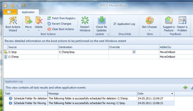 MoveOnBoot - программа для удаления/переноса заблокированных файлов и папок