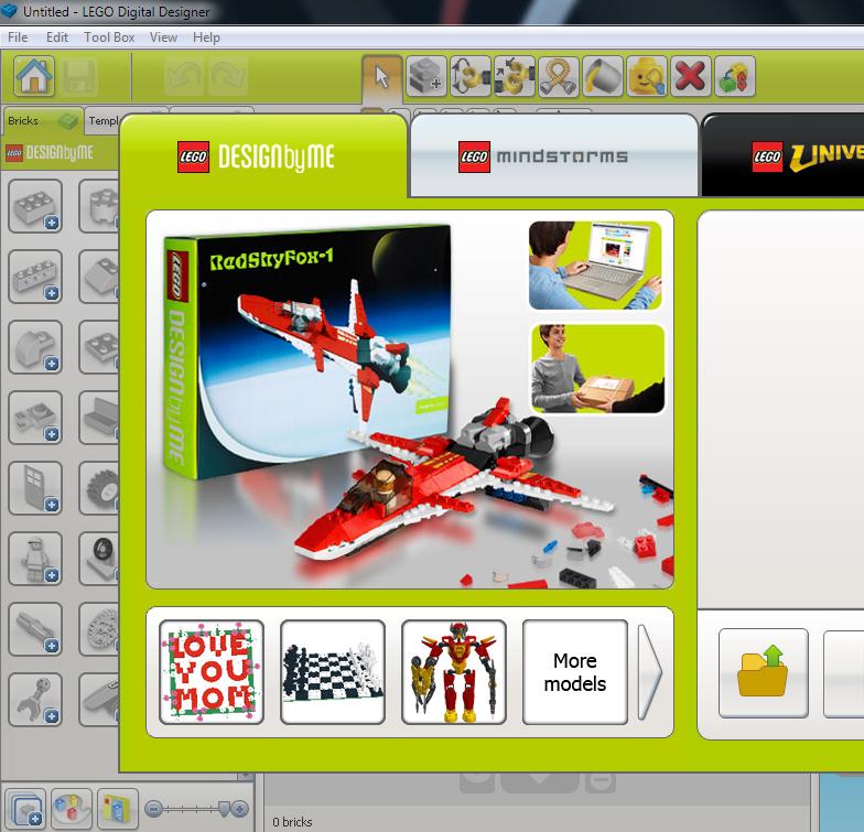 LEGO Digital Designer - виртуальный конструктор