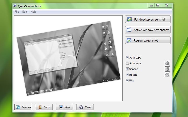 QuickScreenshots - портабельная программа для создания скриншотов