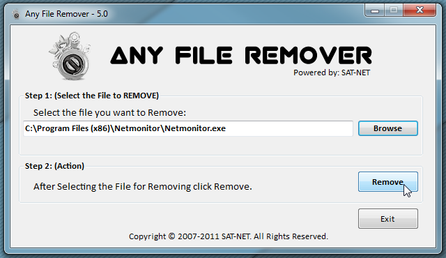 File Remover - программа для удаления заблокированных файлов