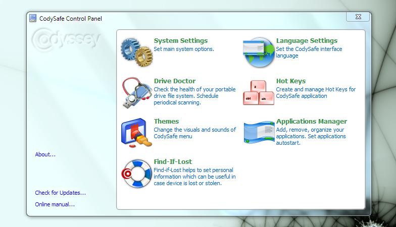 CodySafe - интерфейс для портабельных программ