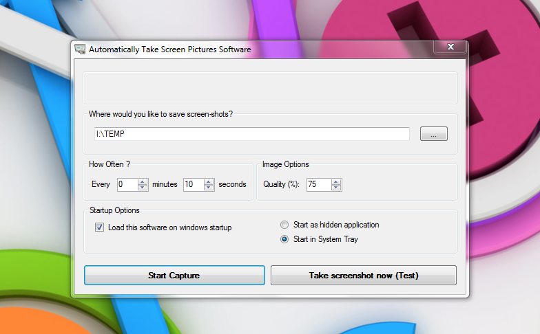 Automatically Take Screenshots - программа для автоматического создания скриншотов
