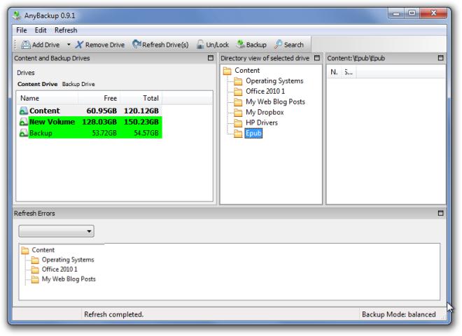 AnyBackup - программа для бэкапа данных из больших разделов