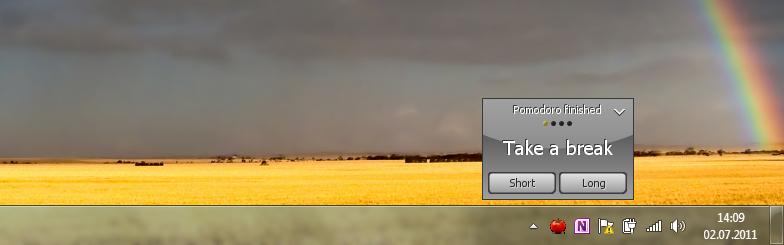 Tomighty - простой таймтрекер для отсчета интервалов времени и напоминания о перерывах