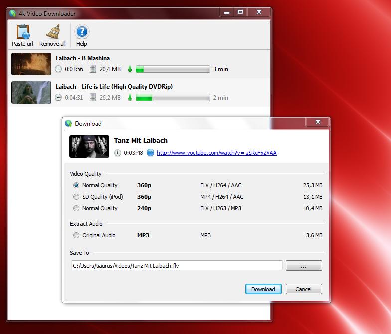 Video Downloader - простая программа для сохранения видео из YouTube