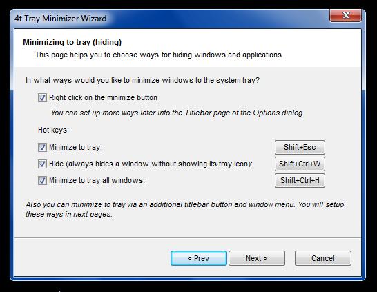 4t Tray Minimizer - закрепление окон, сворачивание в заголовок и скрытие в системном трее (2)