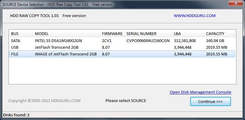 HDD Raw Copy Tool - портабельная утилита для побитового копирования информации с диска на диск