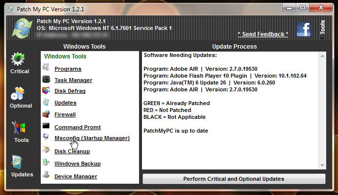 Patch My PC - портабельная утилита для проверки обновлений