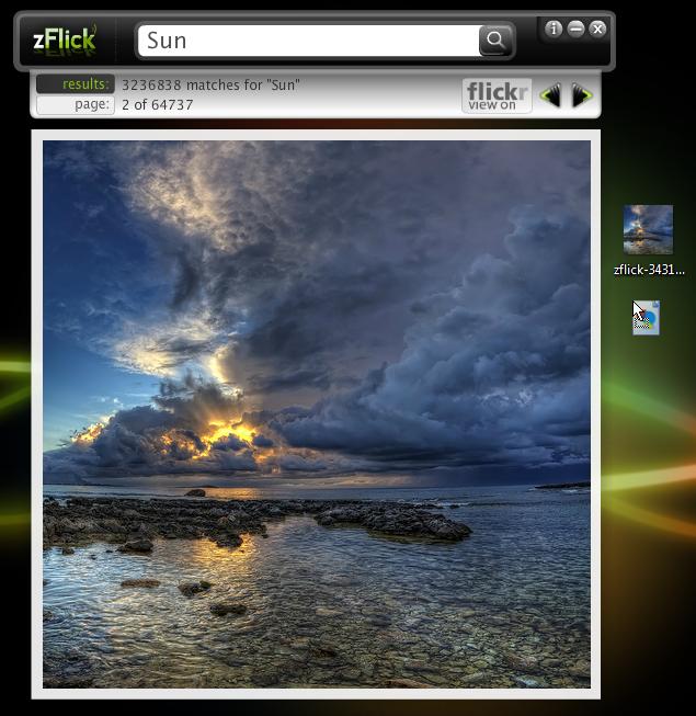 zFlick - уникально простая программа для поиска и скачивания изображений из Flickr