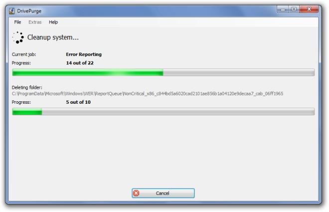 DrivePurge - портабельная программа для очистки системы от мусора