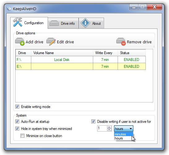 KeepAliveHD поддерживает внешние жесткие диски в боевой готовности
