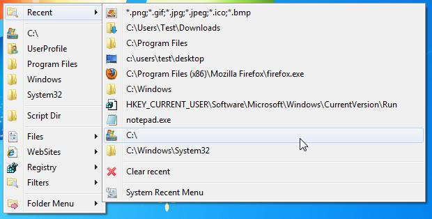 Folder Menu - быстрый доступ к часто используемым папкам