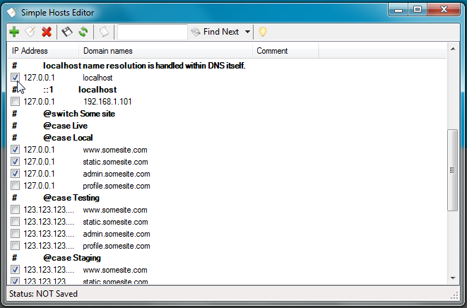 HostsEditor - редактор локального хост-файла