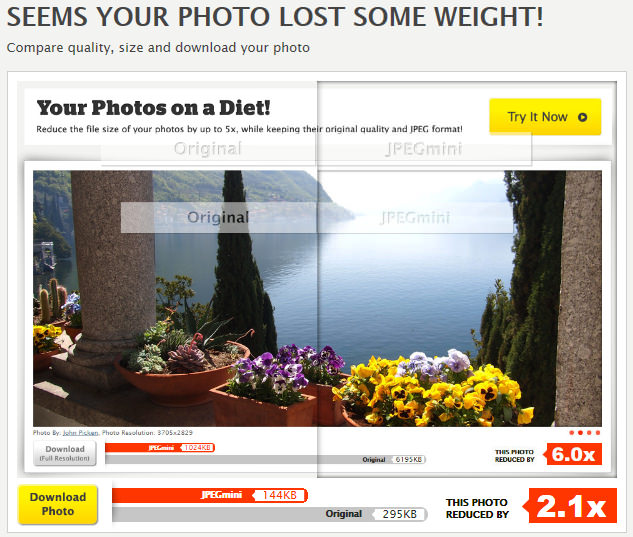 JPEGmini - сервис для эффективного сжатия изображений (1)