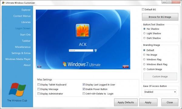 Ultimate Windows Customizer - универсальный твикер системы