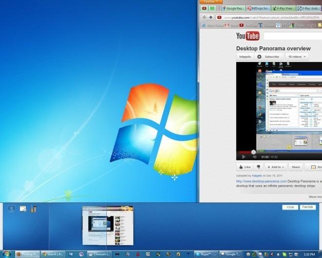 Desktop Panorama - программа для расширения области рабочего стола