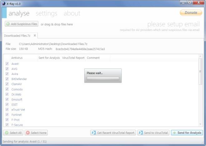 X-Ray - портабельная программа для проверки на вирусы, используя разные антивирусные базы