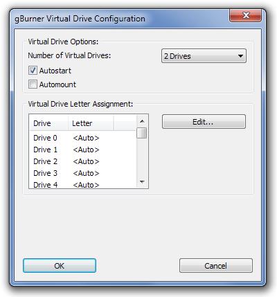 gBurner Virtual Drive - программа для монтирования образов дисков