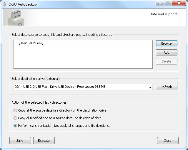O&O AutoBackup - программа для автоматического бэкапа на флешку при ее монтировании (2)