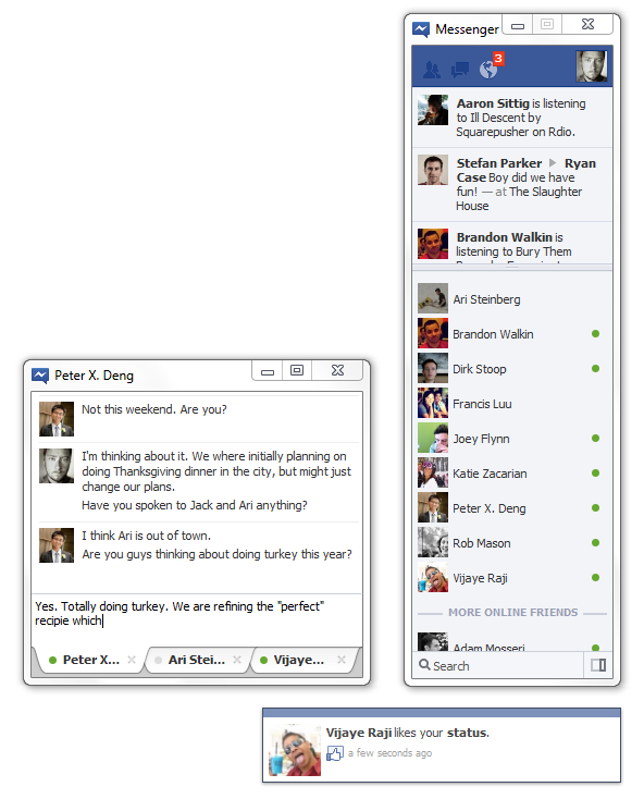 Facebook Messenger для Windows 7 (4)