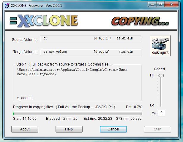 XXCLONE - программа для клонирования системных разделов на другой жесткий диск (3)