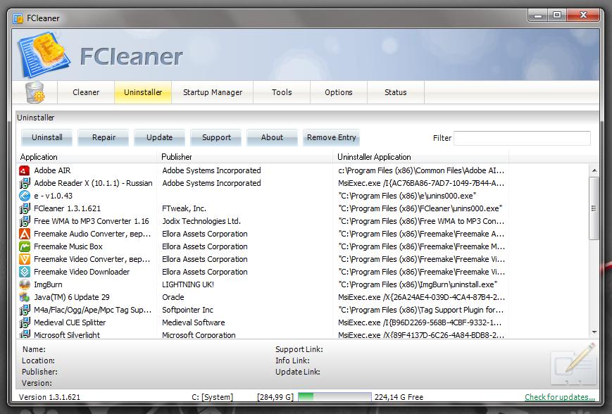 FCleaner - программа для поддержания системы в чистоте и порядке (5)