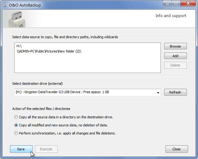O&O AutoBackup - программа для автоматического бэкапа на флешку при ее монтировании (1)