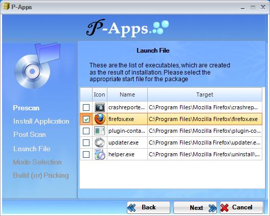 P-Apps - утилита для создания портабельных программ (2)