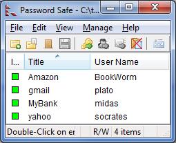 Password Safe - программа для хранения важных паролей (4)
