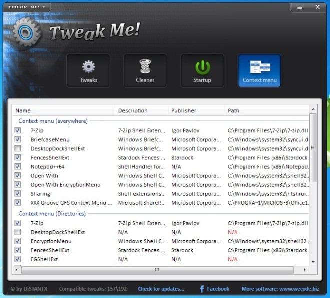 Tweak Me! - многофункциональный твикер настроек системы (2)