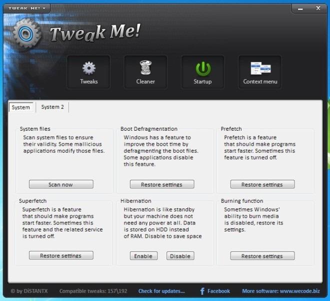 Tweak Me! - многофункциональный твикер настроек системы (1)