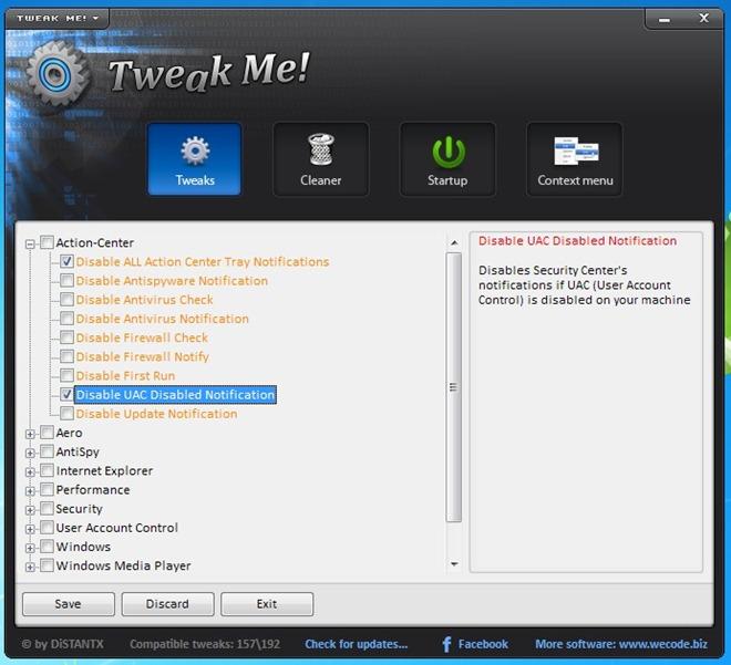 Tweak Me! - многофункциональный твикер настроек системы (3)